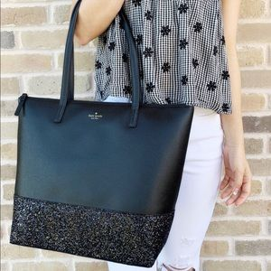 Kate Spade Large Penny Tote Glitter